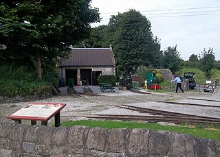 Steeple Grange Light Railway heritage railway at Wirksworth, Derbyshire, England