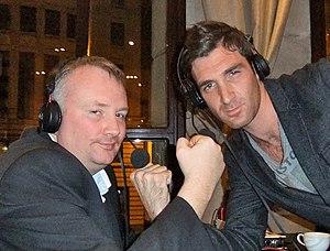 Stephen Nolan - Stephen Nolan (left) posing with Paul Martin.