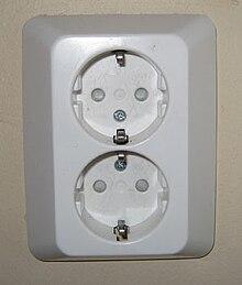 70338d263707 Силовые вилки и розетки для переменного тока — Википедия