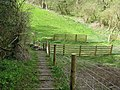 Stile at bottom of descent from Peppering High Barn - geograph.org.uk - 1227997.jpg