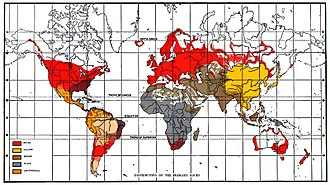 Brown (racial classification) - Global racial map by eugenicist Lothrop Stoddard in The Rising Tide of Color Against White World-Supremacy