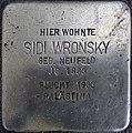 Stolperstein Barstr 23 (Wilmd) Sidi Wronsky.JPG