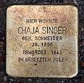 Stolperstein Choriner Str 81 (Mitte) Chaja Singer.jpg