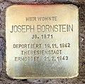 Stolperstein Joachim-Friedrich-Str 21 (Halsee) Joseph Bornstein.jpg