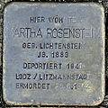 Stolperstein Martha Rosenstein (Taunusstraße 12 Butzbach).jpg