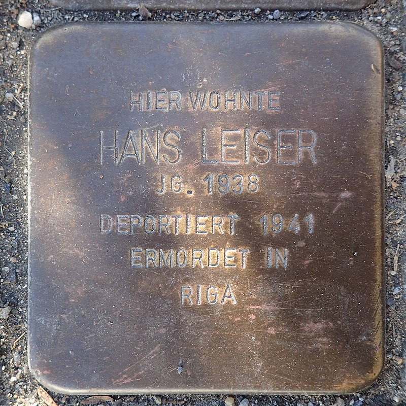 Stolperstein Rheurdt Rathausstraße 27 Hans Leiser