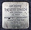 Stolperstein Sentastr 3 (Fried) Therese Brasch.jpg