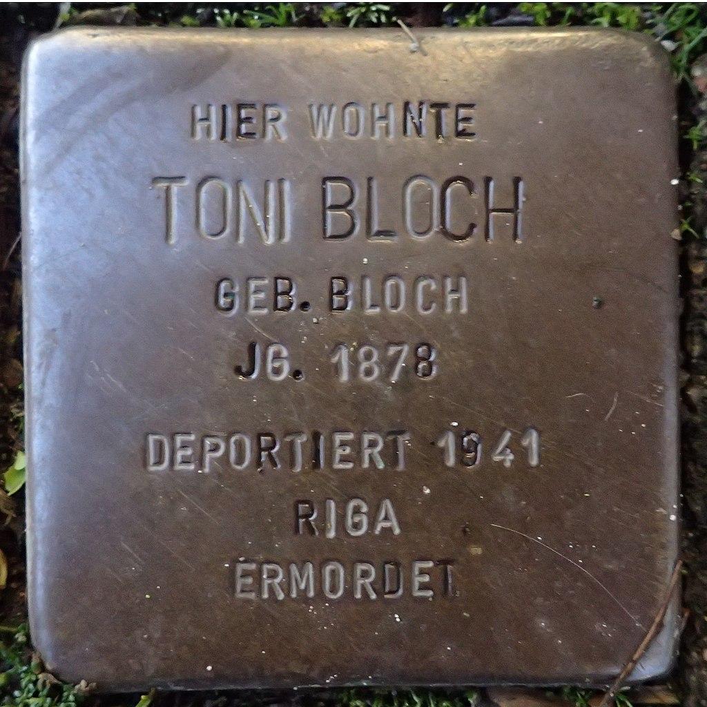 Stolperstein für Toni Bloch geb. Bloch