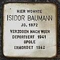 Stolperstein für Isidor Baumann.JPG