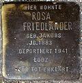 Stumbling block for Rosa Friedländer (Alteburger Straße 11)