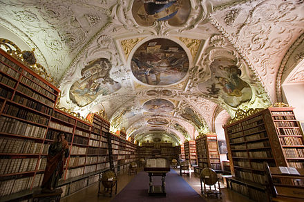 Library of the Strahov Monastery Strahov Monastery 001.jpg