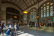 Photographie montrant le Hall Central de la gare.