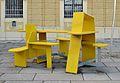 Street furniture at a Würstelstand 01, Schönbrunn.jpg