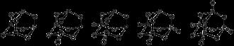 Phosphorus pentoxide - Phosphorus oxides: P4O6, P4O7, P4O8, P4O9, and P4O10.