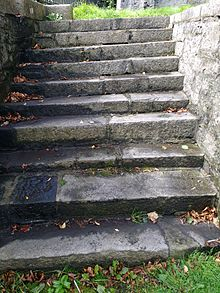 Stumble steps at Maynooth Castle