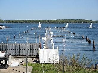 Sodus Bay - Flooded marina on the bay