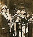 Suffragette leaders at a Women's Social and Political Union (WSPU) reception, c.1908-1912. (22910209172).jpg