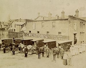 "George Weston - George Weston's first bakery, where he developed his ""Real Home-Made Bread"", Sullivan Street, Toronto, c. 1895"