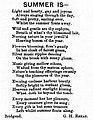Summer Is- - G. Howell-Baker - The Glamorgan Gazette - 1894-08-24.jpg