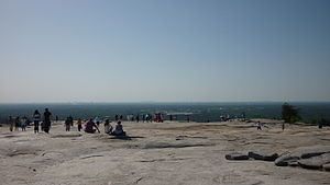 Stone Mountain - Summit of Stone Mountain, Kennesaw Mountain in background