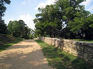 Fredericksburg and Spotsylvania National Military Park - Image: Sunken Road Restored 2004 Section in Fredericksburg and Spotsylvania National Military Park