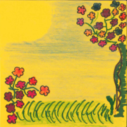 Sunny landscape with flowers.png