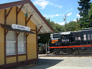 Sunol, California - Historic Sunol Train Depot, on  the Niles Canyon Railway