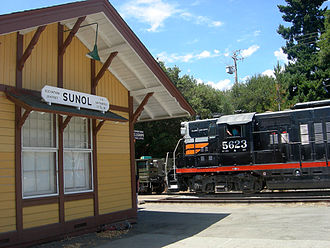 Niles Canyon Railway - Sunol Depot at MP 35.6