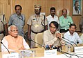 Suresh Prabhakar Prabhu addressing at the signing ceremony of a Memorandum of Understanding (MoU) between the Ministry of Railways and Government of Haryana for formation of a Joint Venture, in New Delhi.jpg