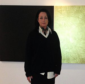 Susan Gunn - Artist Susan Gunn at an exhibition in 2012