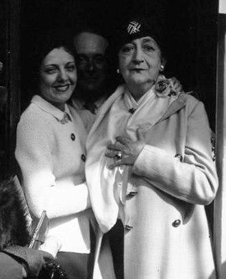 Marguerite Moreno - Moreno (right) with Suzy Vernon in 1934