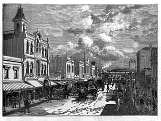 Richmond, Victoria - Swan Street scene in 1889