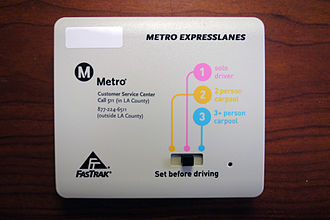 "FasTrak - A ""switchable"" FasTrak device used by the Metro ExpressLanes project"