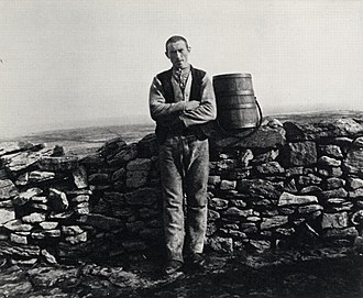 The Cripple of Inishmaan - John Millington Synge on Inishmaan, 1898. In The Cripple of Inishmaan, McDonagh critiques the view of islanders given by Synge in plays like Riders to the Sea.