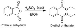 Diethyl phthalate - Image: Synthesis DEP