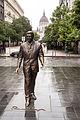 Szabadság Square, statue of Ronald Reagan.jpg