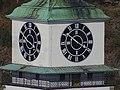 Třebíč, hodiny na městské věži, pohled z vodojemu.jpg