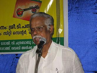 Ezhuthachan Puraskaram - Image: T.padmanabhan