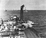TDD target drone is launched from USS Quincy (CA-71) in 1952.jpg