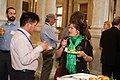 Talking and Eating at Google Opening Reception.jpg