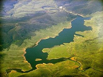 Tantangara Dam - Image: Tantangara Reservoir aerial 1