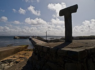 Tory Island - Tau cross. One of only two tau crosses left in Ireland