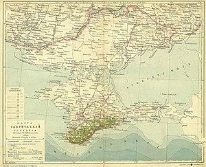 Таврическая губерния на карте