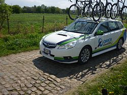 Team car Orica-GreenEDGE-ParisRoubaix2014.JPG