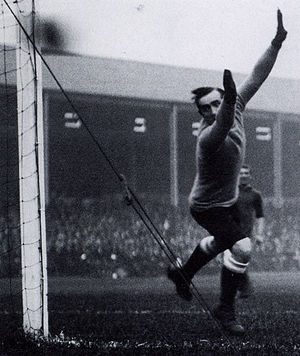 Teddy Davison - Davison saves from Billy Lacey on 4 October 1913 in a 4–1 Wednesday victory over Liverpool