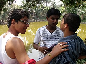 Childhood - Teenage boys in India