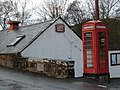 Telephone box at Tynron Parish Hall - geograph.org.uk - 707298.jpg