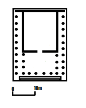 Temple of Claudius, Colchester - Floor plan of the Temple of Claudius