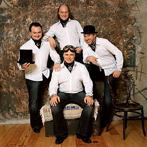 Terem Quartet - Terem-Quartet. From left to right: Alexey Barshev, Andrey Smirnov and Mikhail Dzudze, Andrey Konstantinov.