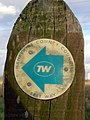 Test Way footpath waymarker - geograph.org.uk - 366968.jpg